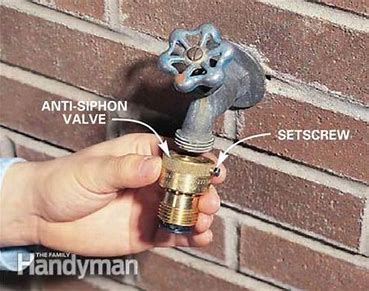 anti siphon installation